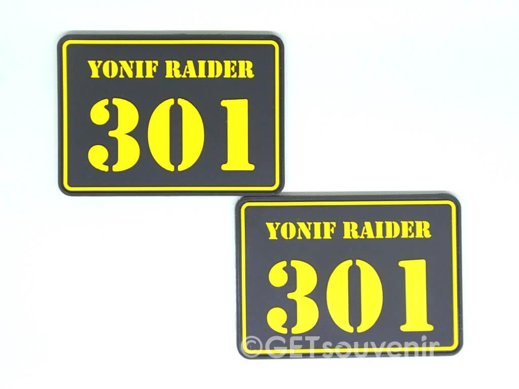 emblem label karet custom
