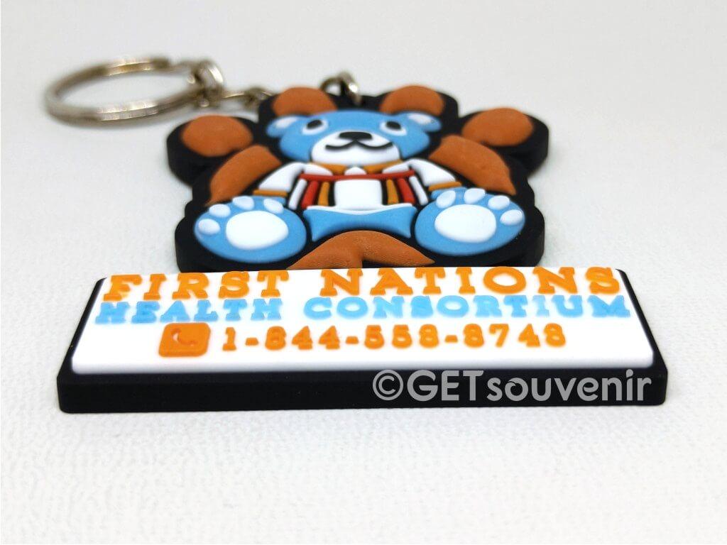 Gantungan kunci karet semi 3D