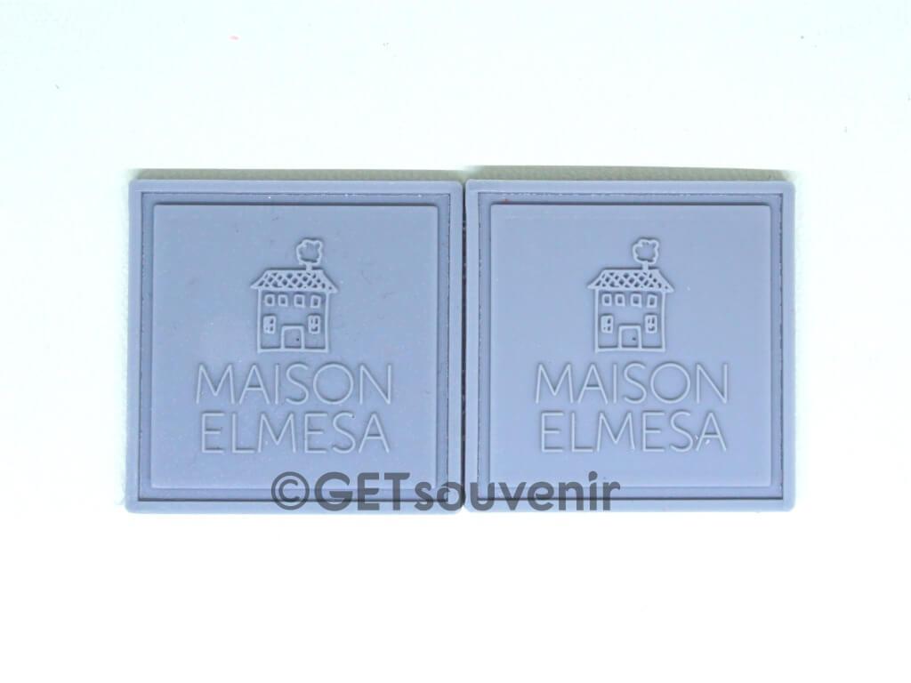 Label karet ukuran kecil untuk dijahit
